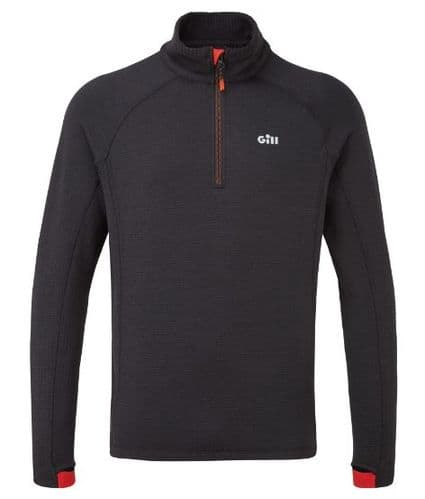Gill OS Thermal Zip Neck Top Grahite