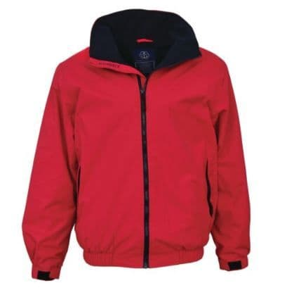Maindeck Breathable and Waterproof Crew Jacket Red with Navy Fleece Lining Sailing
