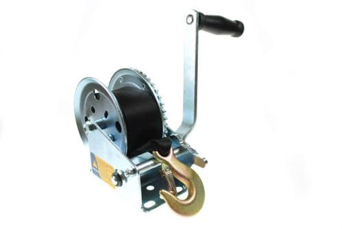Maypole Boat Trailer Winch 320kg complete with Strap and Zinc Plated Hook.