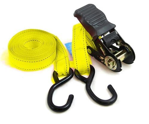 Pair  Ratchet Tie Down Straps  with Hooks