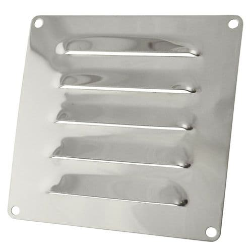Stainless Steel Louvred Air Vent 120mm x 120mm