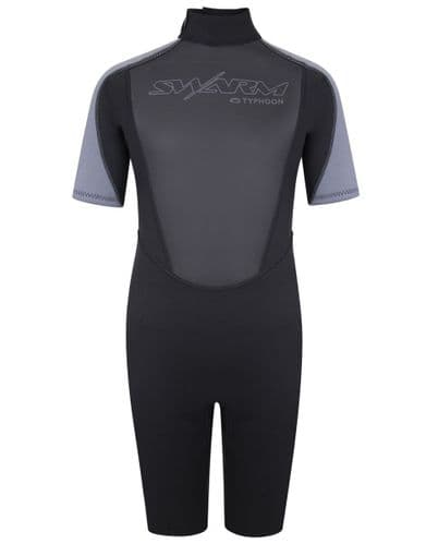 Typhoon Swarm3 Shorty Wetsuit Youth Black Graphite