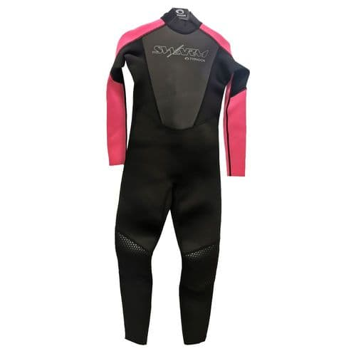 Typhoon Swarm3 Youth One Piece Wetsuit  Black Pink