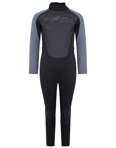 Typhoon Swarm3 Youth Wetsuit One Piece Black Graphite
