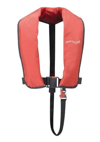 Waveline 165N ISO Red Manual LifeJacket Budget Boating Life Jacket