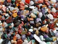 Mixed Colour Natural Gemstones 3-6mm