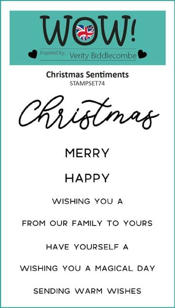 Christmas Sentiments (by Verity Biddlecombe) - Clear Stamp Set (A7)