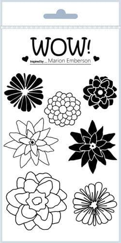 Hey Little Flower (by Marion Emberson) - Clear Stamp Set (A6)