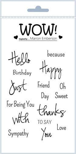 Just Saying (by Marion Emberson) - Clear Stamp Set (A6)