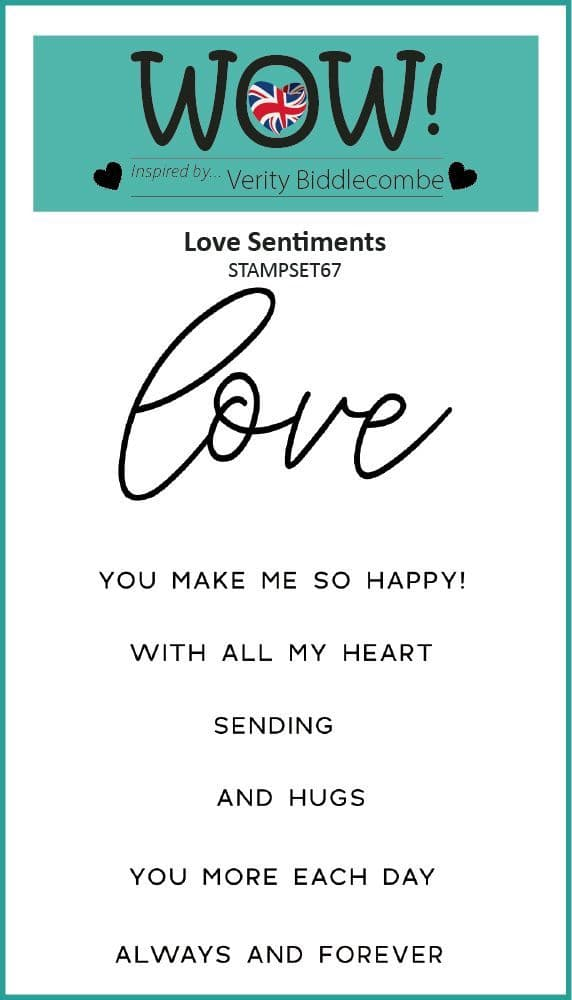 Love Sentiments (by Verity Biddlecombe) - Clear Stamp Set (A7)