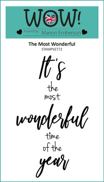 The Most Wonderful (by Marion Emberson) - Clear Stamp Set (A7)