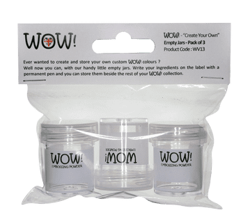 "WOW! ""Create Your Own"" Empty Jars (Pack of 3)"