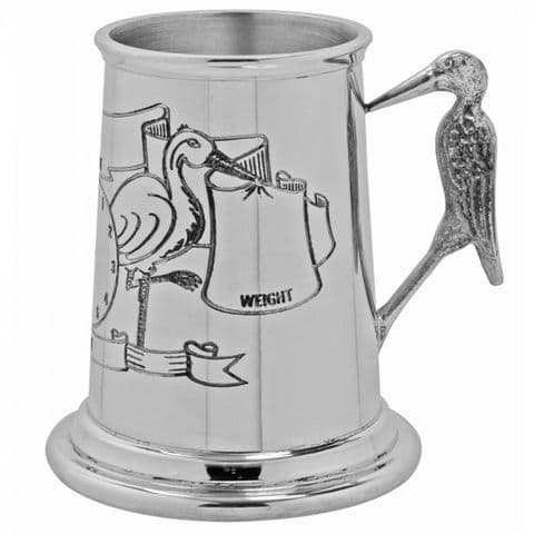 Stork' Child's Pewter Cup