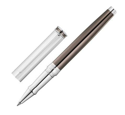 Sterling Silver Waldmann Rollerball - Edelfeder - Chocolate Lacquer