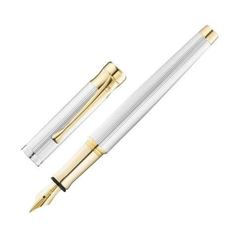 Waldmann Tango Fountain Pen with Pinstripe Design and 24 ct Gold Fittings