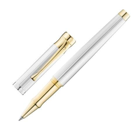 Waldmann Tango Rollerball Pen with Pinstripe Design and 24 ct Gold Fittings