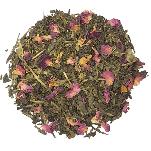 Cherry Rose Green Sencha Luxury Loose Leaf Tea in Assorted Packs