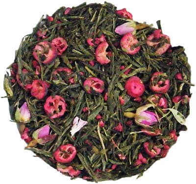 Cranberry Rose Green Sencha Luxury Loose Leaf Tea in Assorted Packs
