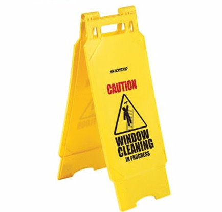 Caution Window Cleaning Safety Sign