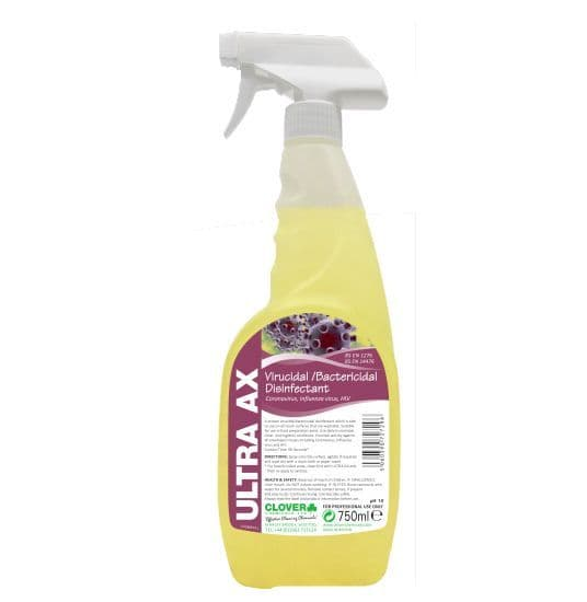 Clover ULTRA AX Sanitiser. Kills Coronavirus, 750ml