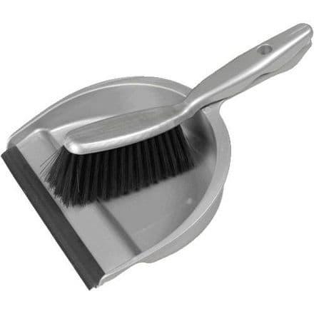Grey Dustpan & Brush