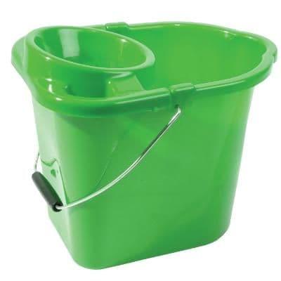 Mop Bucket Plastic Green 2 Gallons