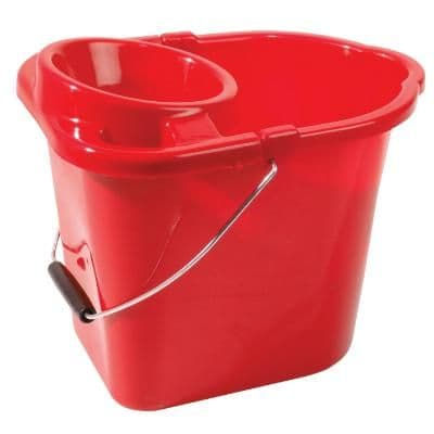 Mop Bucket Plastic Red 2 Gallons