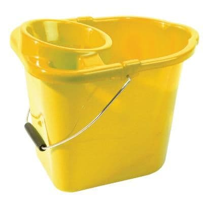 Mop Bucket Plastic Yellow 2 Gallons