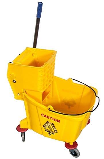 Professional Kentucky 36L Single Mop Bucket Wringer Trolley