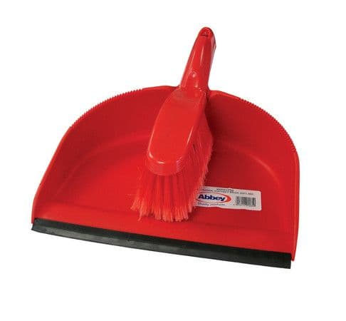 Red Dustpan & Brush