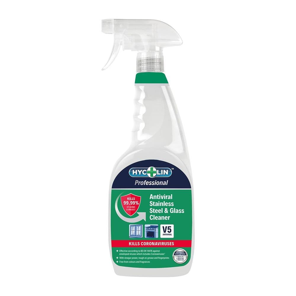 V5 Hycolin Professional Antiviral Stainless Steel & Glass Cleaner 750ml