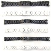 EMPORIO ARMANI CERAMICA Watch Strap CERAMIC Bracelet BLACK WHITE 18mm 22mm