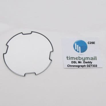 For DIESEL DZ7333 Mr DADDY Chronograph Watch Glass Crystal New Spare Part C25E