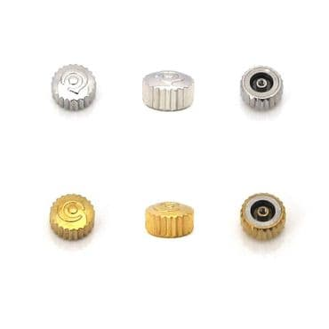 New Watch Crown For CYMA Replacement Spare Part SILVER & GOLD / Small and Large