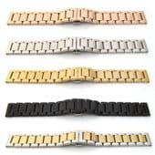 New Watch Strap Bracelet STAINLESS STEEL SOLID LINK Band Hidden Deployment Clasp