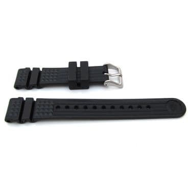 Original SEIKO MONSTER 20mm Watch Strap Black MARINE MASTER Band  S55L